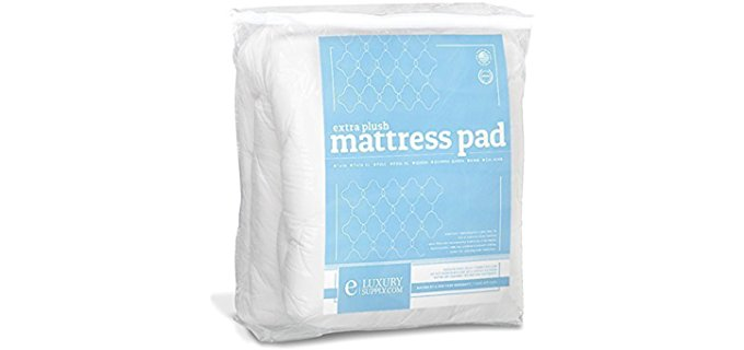 Exceptional Sheets Cluster Fiber Fill - Down-Alternative Cooling Back Pain Relief Mattress Topper