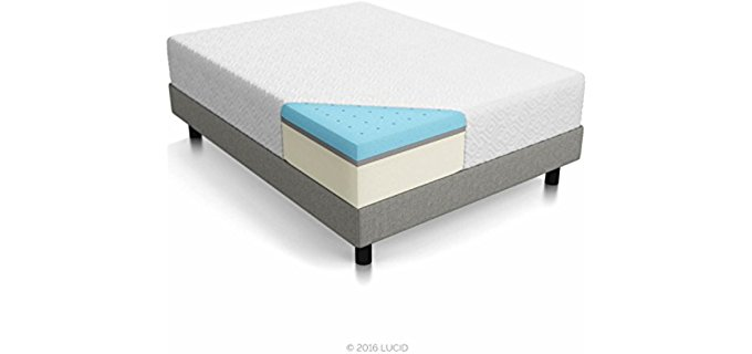 Lucid 3layer Foam - Cooling Triple Decker Shoulder Hugging Foam Mattress