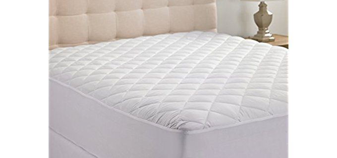 Hanna Kay Stretch Polyester - One-Size-Fits-All Back Padding Quilted Mattress Topper