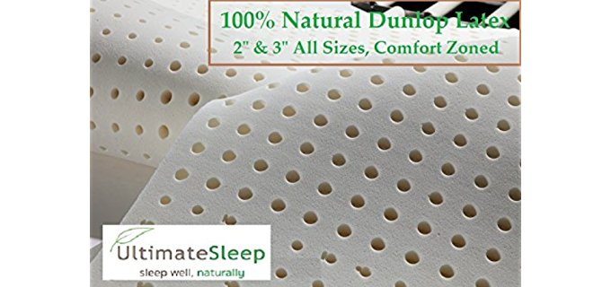 Ultimate Sleep Plush Latex Topper - Dream Easily Medium Density Latex Mattress Pad
