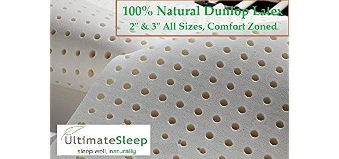 Ultimate Sleep Plush Latex Topper - Dream Easily Medium Density Latex Mattress Pad