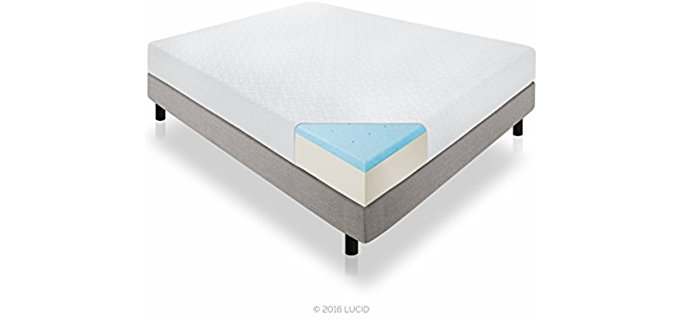 Lucid Soft Support Mattress - Extra Soft Mattress for Firm Back Support