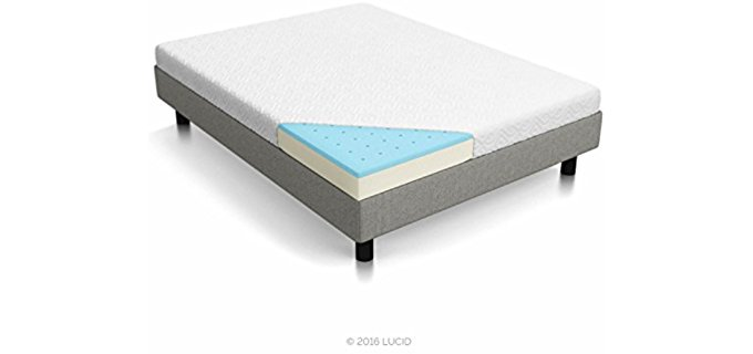 Lucid Dual-Layer - Memory Foam Thin Mattress