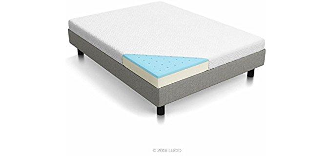 Lucid Dual-Layer - Memory Foam Thin Mattress