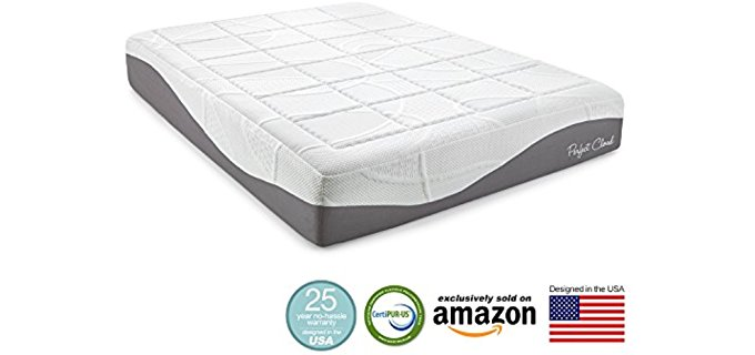 Perfect Cloud Firm Gel Mattress - Extra Firm Gel Infused Foam Mattress