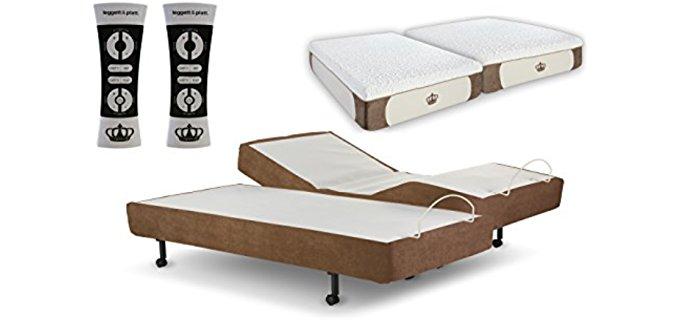 Dynasty Mattress S-Shape Adjustable Bed Set - Adjustable Bed Set With Luxury Foam Mattresses