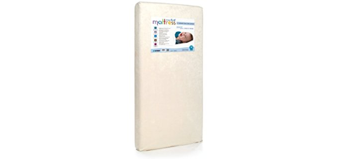 My First Mattress High Density Foam Mattress - Extra Firm Memory Foam Crib Mattress