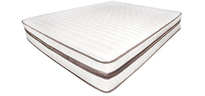 My Green Mattress Organic Cotton Latex Mattress - Organic Cotton Innerspring Latex Mattress
