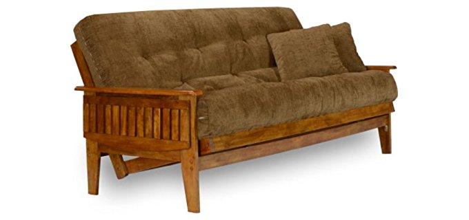 nirvana futons eastridge futon set   wood futon frame  u0026 medium mattress best futon mattress   mattress obsessions  rh   mattressobsessions