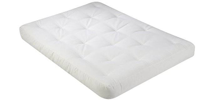 Serta Medium Thick Futon Mattress - Foam Cotton Matting Futon Mattress