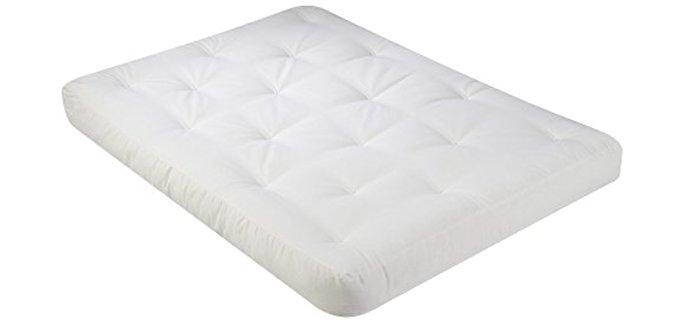 Serta Medium Thick Futon Mattress - Foam Cotton Matting Futon Mattress