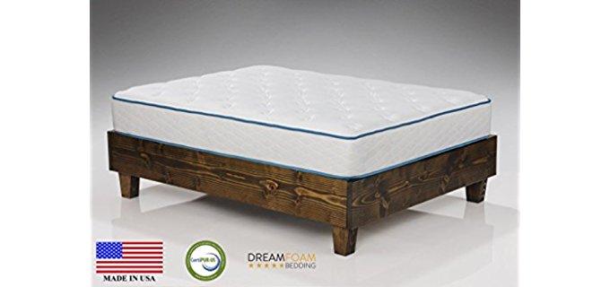 Dreamfoam Bedding Arctic Dreams Mattress - Cooling Gel Soft Support Foam Mattress
