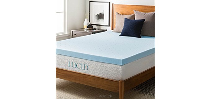 LUCID 3-Inch - Mattress Topper With Ventilation