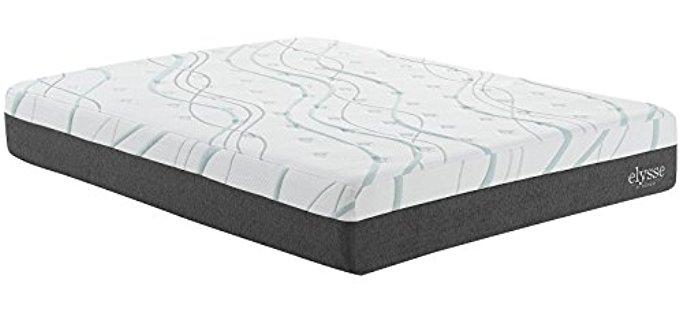 Modway Cooling Hybrid Mattress - Memory Foam Coil Mattress for Stomach Sleepers
