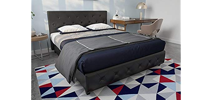 DHP Upholstered Faux Leather - Platform Bed