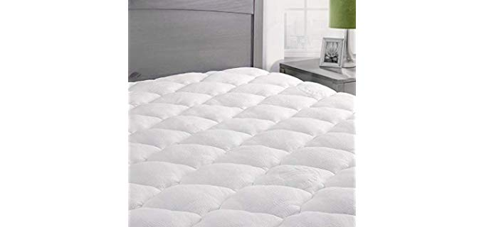ExceptionalSheets Rayon from Bamboo - Mattress Pad with Fitted Skirt