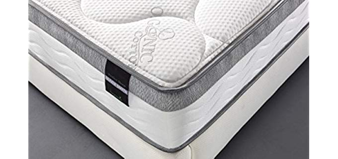 Smith and Oliver Organic Cotton - Cool Memory Foam & Pocket Spring Mattress