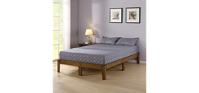 Olee Sleep VC14SF03K-1 - Wood Platform Bed Frame