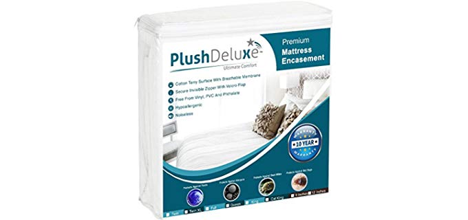 PlushDeluxe Premium - Bed Bug Resistant Mattress Protector