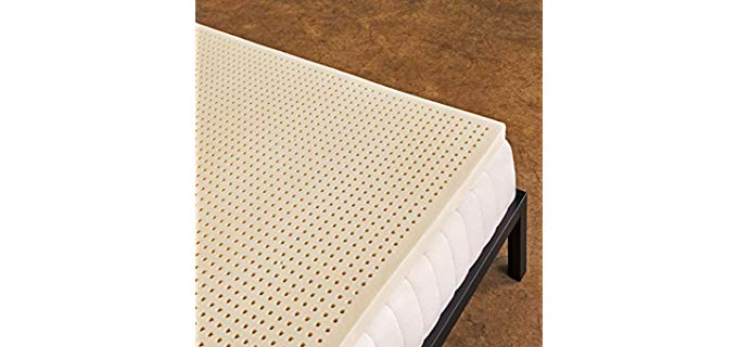 Pure Green Natural Mattress Topper - Gentle Sleep Wave Form Latex Topper