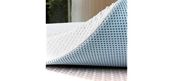 Subrtex 3 Inch - Gel Infused Memory Foam Mattress Topper