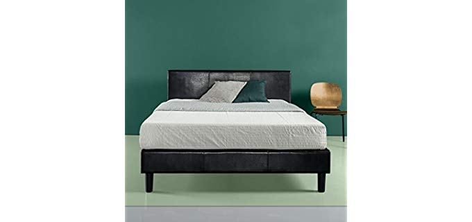 Zinus Jade Fuax Leather - Platform Bed Frame