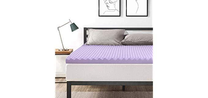 Best Price Mattress Egg Crate - Lavender Infused Foam Topper