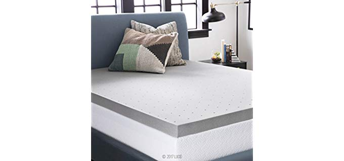 Lucid Bamboo Charcoal Memory Foam - Mattress Topper