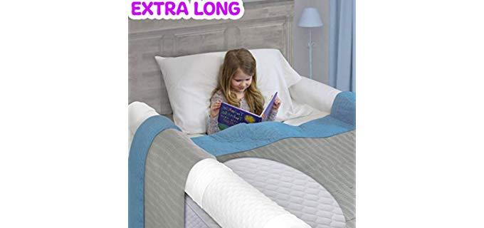 BuBumper Soft Foam - Kids Extra Long Bed Rail