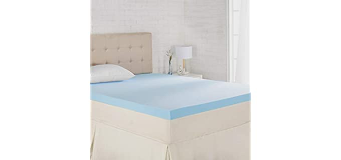 AmazonBasics Hypoallergenic - Foam Mattress Topper for Plus Size