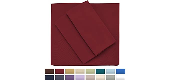 Cozy House Hypoallergenic - Burgundy Cooling Sheet