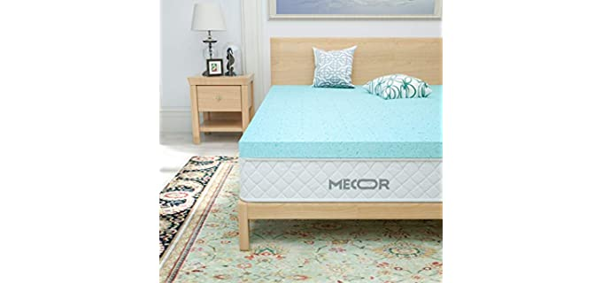 Mecor Refreshing - Memory Foam Mattress Topper For Side Sleepers