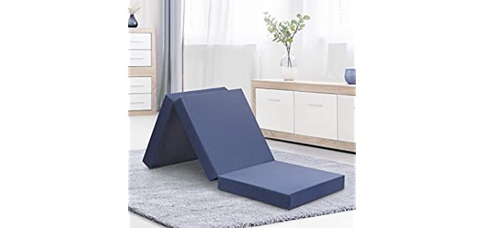 Olee Sleep Tri-Folding - Memory Foam Floor Mattress
