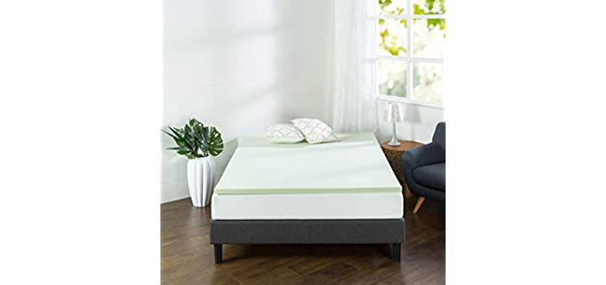 Zinus Green Tea - Foam Mattress Topper For Side Sleepers