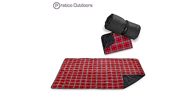 Pratico Outdoors Polar Fleece - Plaid Picnic Blanket