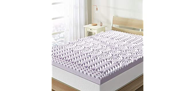 Best Price Mattress 5-Zone Foam - Lavender Mattress Topper