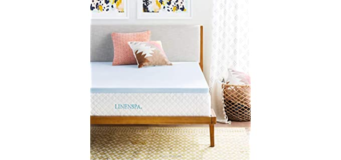 Linenspa 2-Inch Gel Infused - Memory Foam Mattress Topper
