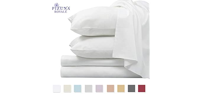 Pizuna Cotton - Sateen Sheets For Adjustable Beds