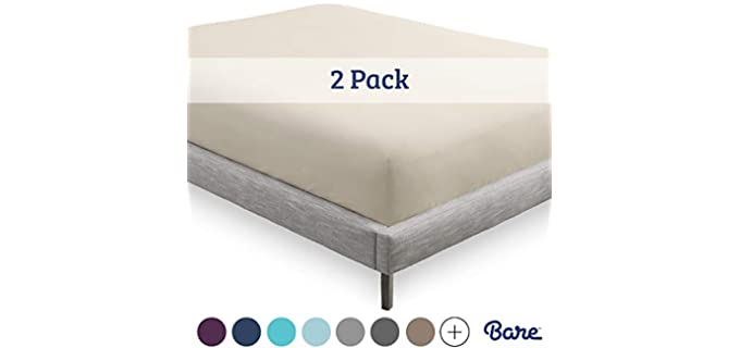 Bare Home Elasticated - Double Sheets For Adjustable Beds