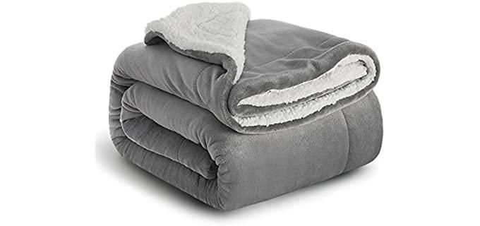 Bedsure Microfiber - Sherpa Fleece Blanket