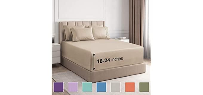 CGK Unlimited Microfiber - Split Sheets For Adjustable Beds