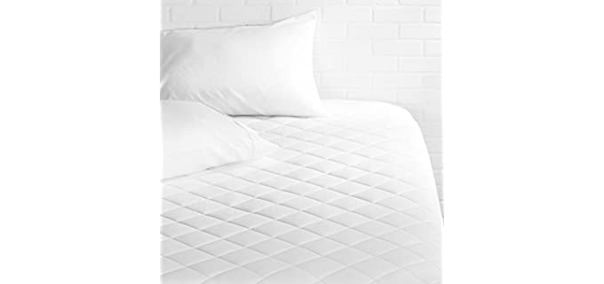 AmazonBasics 18 Inch Deep Quilted - Mattress Topper Pad