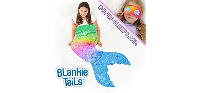 Blankie Tails Minky - Mermaid Tail Blanket for Girls