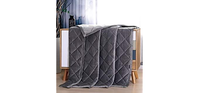 Manlinar Weighted Blanket - Crystal Velvet
