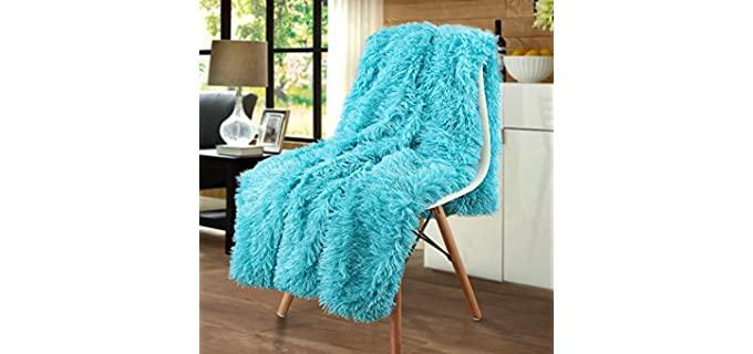 Merit Home Hypoallergenic - Fluffy Fuzzy Throw Blankets