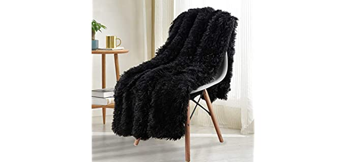 Noahas Sherpa Underside - Fluffy Long Fur Blankets
