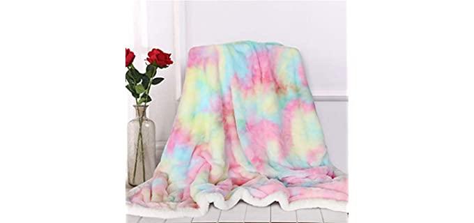 Sleepwish Store Multi Pastel - Unicorn Fluffy Fuzzy Blankets