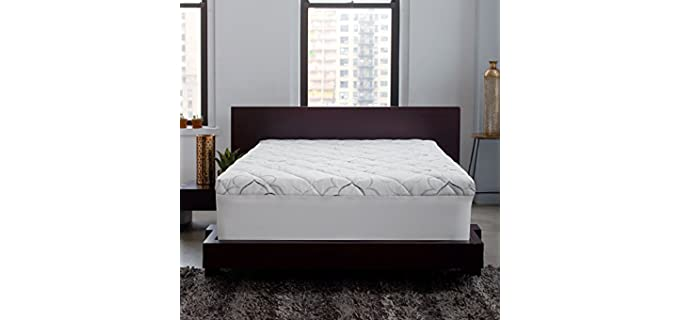 Sleep Innovations Instant Pillow Top - Fiber Mattress Topper