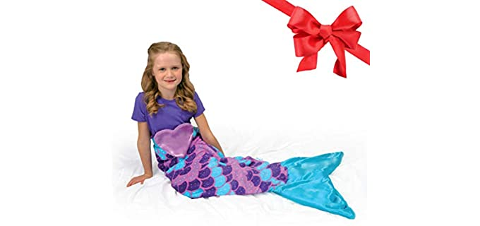 Snuggie Tails Cuddly - Mermaid Tail Blanket for Girl