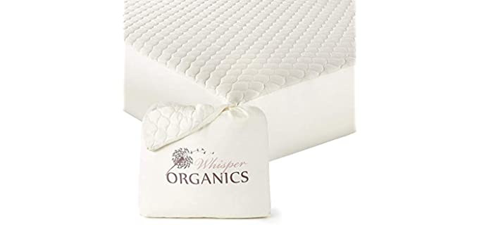 Whisper Organics Quilted - Organic Mattress Protector Topper